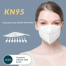 5-Ply Face Masks Disposable Surgical Face Masks 10 Packs Safty KN95