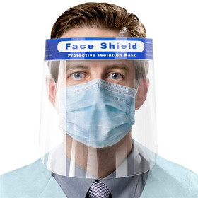 5 Pcs Clear Face Shield Masks, Face Shield Protective Isolation Mask