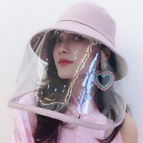 Face Shield Bucket Hat, Protective Sun Hat with Detachable Face Shield