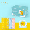 Kids Face Mask 30 Pcs, Duck Printed Cute Face Masks for Kids 5-15 Ages