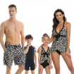 Family Matching Swimsuit Leopard Bathing Suits for Mom Dad and Kids