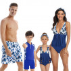 Matching Family Bathing Suits Coconut Tree Print Swimsuits for Family