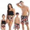 Family Matching Swimwear Monstera Prints Matching Swimsuits Family