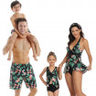 Matching Bathing Suits for Family, Frangipani Print Family Swimsuits