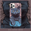 Cat iPhone Case, Oil Painting Style Matte Cat iPhone Case