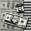 Dollar iPhone Case, Fun Benjamin 100 Dollar Bill Matte iPhone Case
