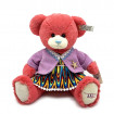 """Red Teddy Bear with Cute Outfit, 9.5"""" Red Teddy Bear for Girls Gift"""